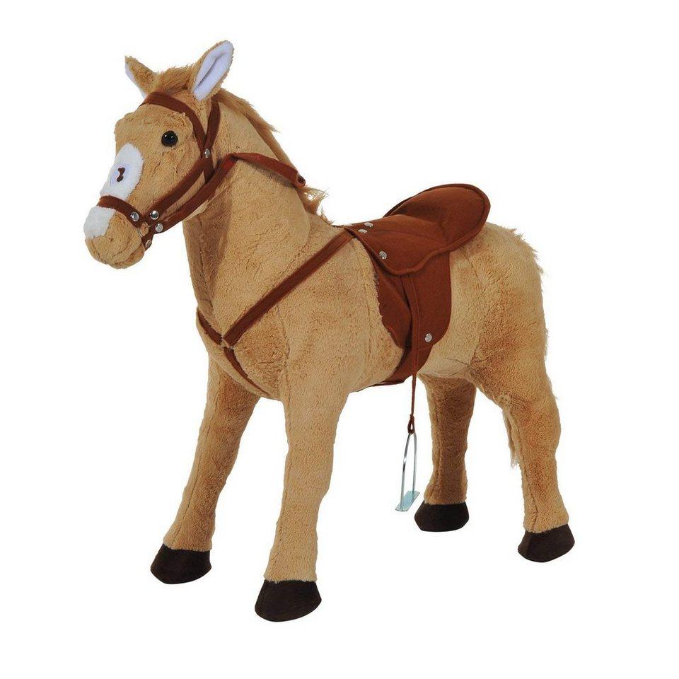 homcom stehtier »kinderpferd« für größere pferdefreunde
