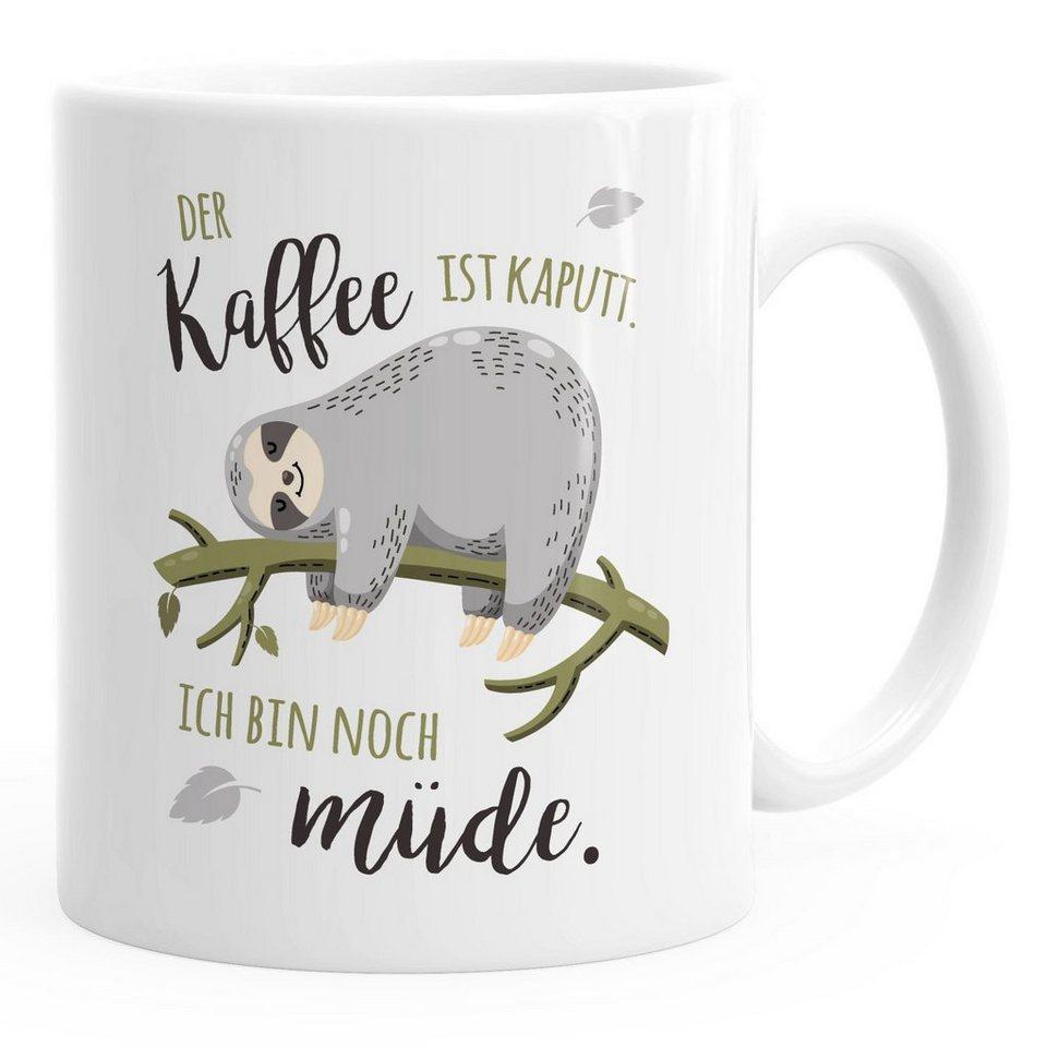 MoonWorks Tasse »Kaffee-Tasse mit Spruch Faultier