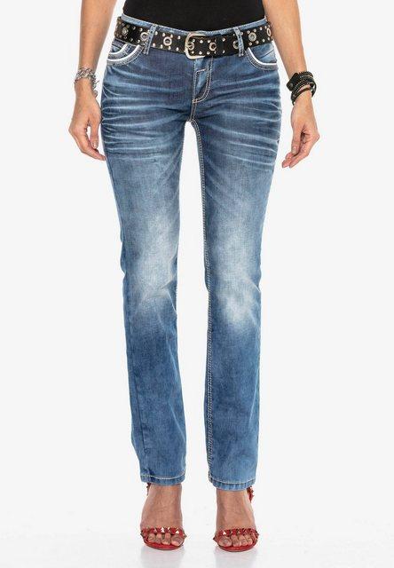 Hosen - Cipo Baxx Bequeme Jeans mit trendiger Used Waschung ›  - Onlineshop OTTO