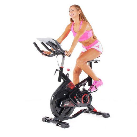Miweba Sports Fahrradtrainer »MS300«, 13 Kg Schwungmasse - Stoßdämpfer - Tablethalter