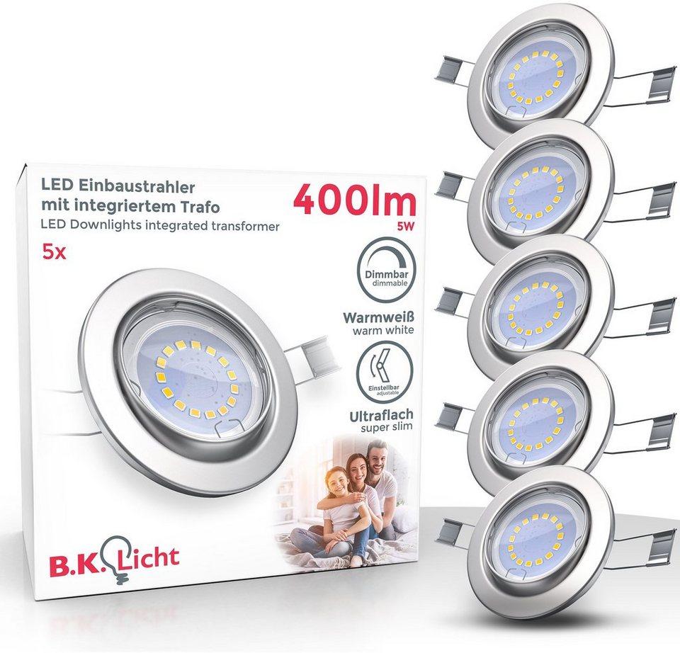B.K.Licht LED Einbauleuchte, LED Einbaustrahler dimmbar ohne ...