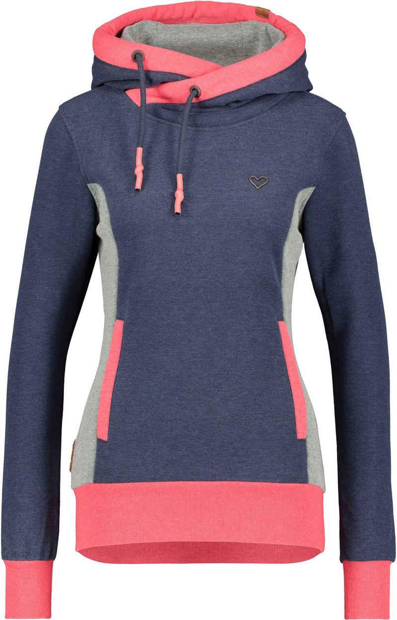 Alife & Kickin Sweatshirt »JilanAK« sportiver Hoodie mit Kontrast-Details & Kängurutasche