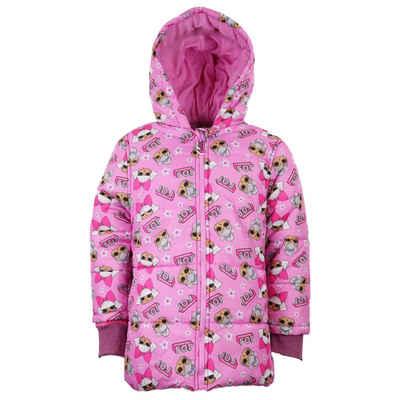 LOL Surprise Winterjacke »Kinder Jacke in Rosa« Gr. 104 bis 134, mit Kapuze