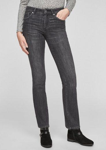 s.Oliver 5-Pocket-Jeans »Slim Fit: Jeans mit Bootcut leg« Waschung, Leder-Patch