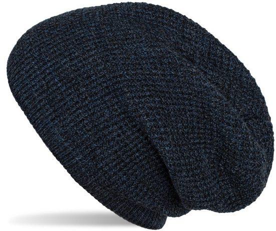 styleBREAKER Strickmütze »Strick Beanie Mütze mit Karo Strickmuster« Strick Beanie Mütze mit Karo Strickmuster