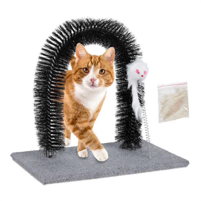 relaxdays Kratzbaum »Kratzbogen für Katzen mit Spielmaus«