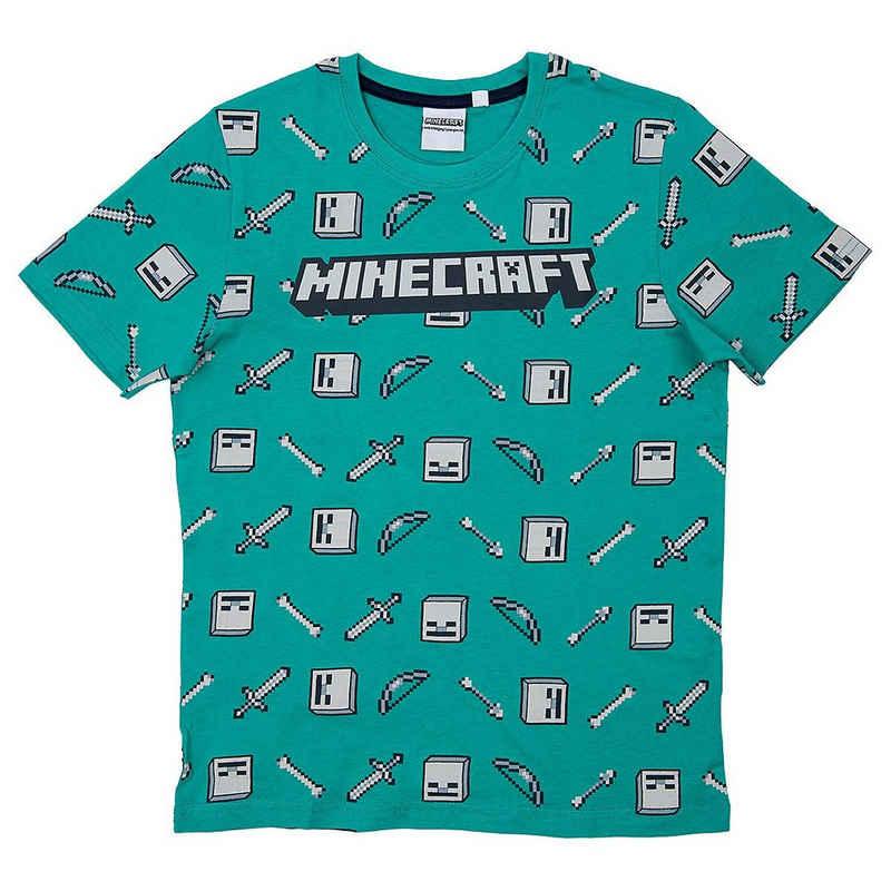 Minecraft T-Shirt »T-Shirt Drop Top green/gray 152cm«