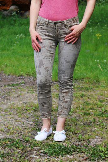 Buena Vista 7/8-Jeans »Malibu CC beige flower«
