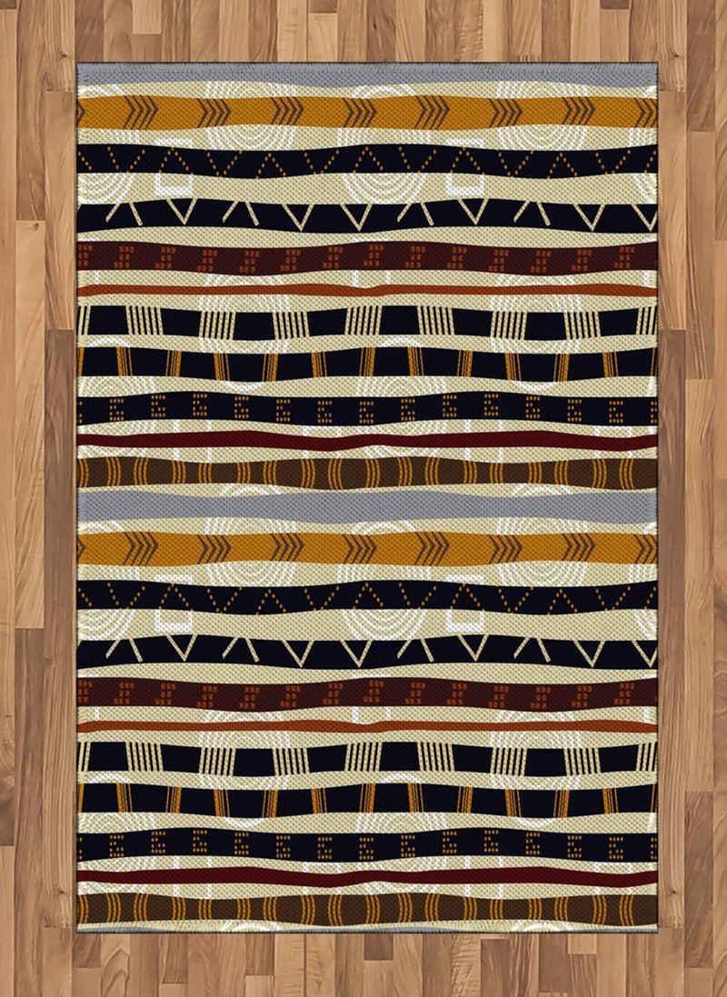 Teppich »Flachgewebe Deko-Teppiche für das Wohn-,Schlaf-, und Essenszimmer«, Abakuhaus, rechteckig, Stammes Trippy Geometric Figures