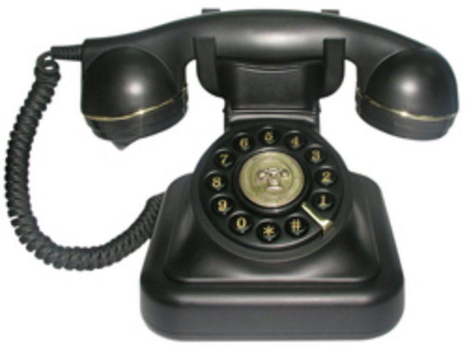 Swissvoice Telefon analog schnurgebunden »Vintage 20 black« in Schwarz