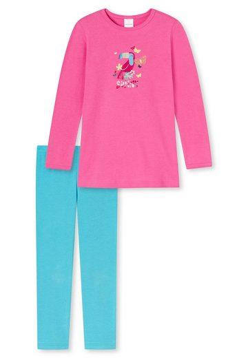 Schiesser Pyjama »Mädchen Schlafanzug Set - lang, Rundhals, Kinder,«