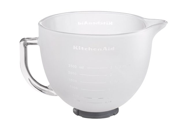 KitchenAid 4,8L-Milchglasschüssel 5K5GBF, für alle Kitchen Aid Geräte mit kippbarem Motorkopf