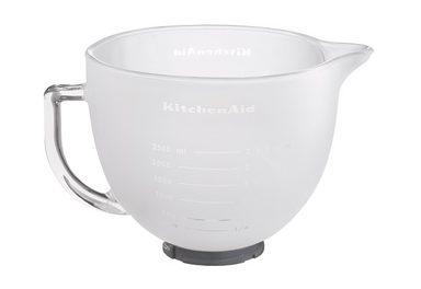 KitchenAid Küchenmaschinenschüssel »5K5GBF, 4,8L-Milchglasschüssel«, Milchglas, für alle Kitchen Aid Küchenmaschinen mit kippbarem Motorkopf