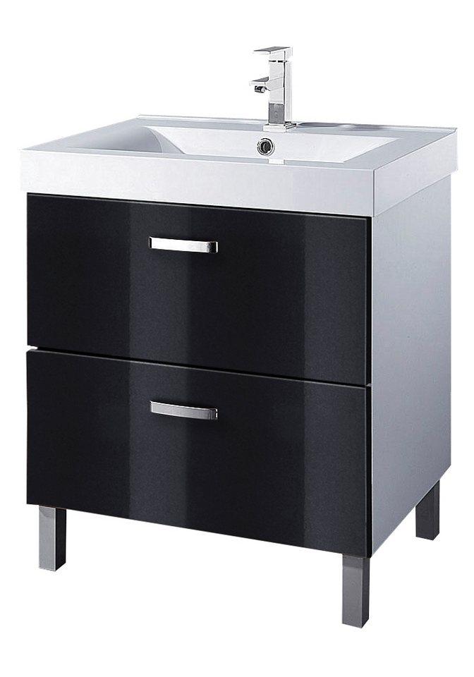 Waschtisch, Held Möbel, »Ventura« in weiß-schwarz