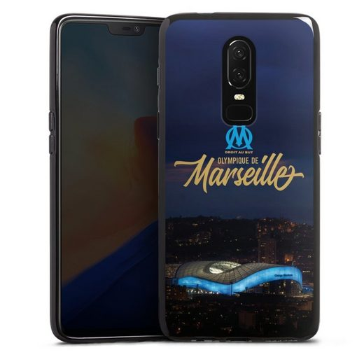 DeinDesign Handyhülle »Stadium Night« OnePlus 6, Hülle Olympique de Marseille Vélodrome Offizielles Lizenzprodukt