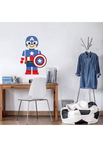Wall-Art Wandtattoo »Spielfigur Held Captain Am...