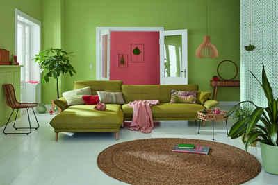 hülsta sofa Ecksofa »hs.430«, Recamiere hoher Rücken mit Neigefunktion, Breite 305 cm
