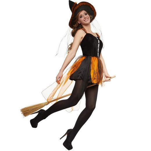 dressforfun Hexen-Kostüm »Frauenkostüm Feurige Hexe Wilzania«
