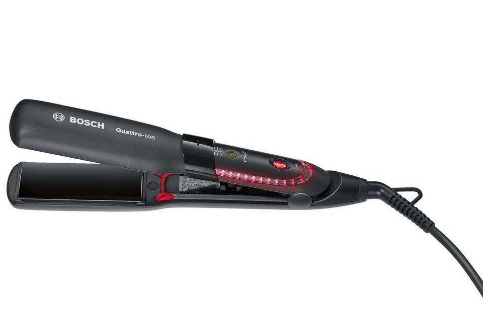 Bosch, Haarglätter, PHS5263 BrilliantCare Quattro-Ion in schwarz