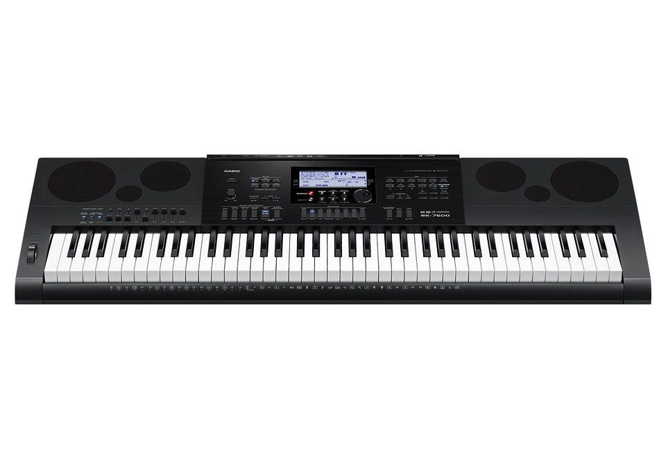 Keyboard, Casio®, »WK-7600«, inkl. Netzteil in schwarz