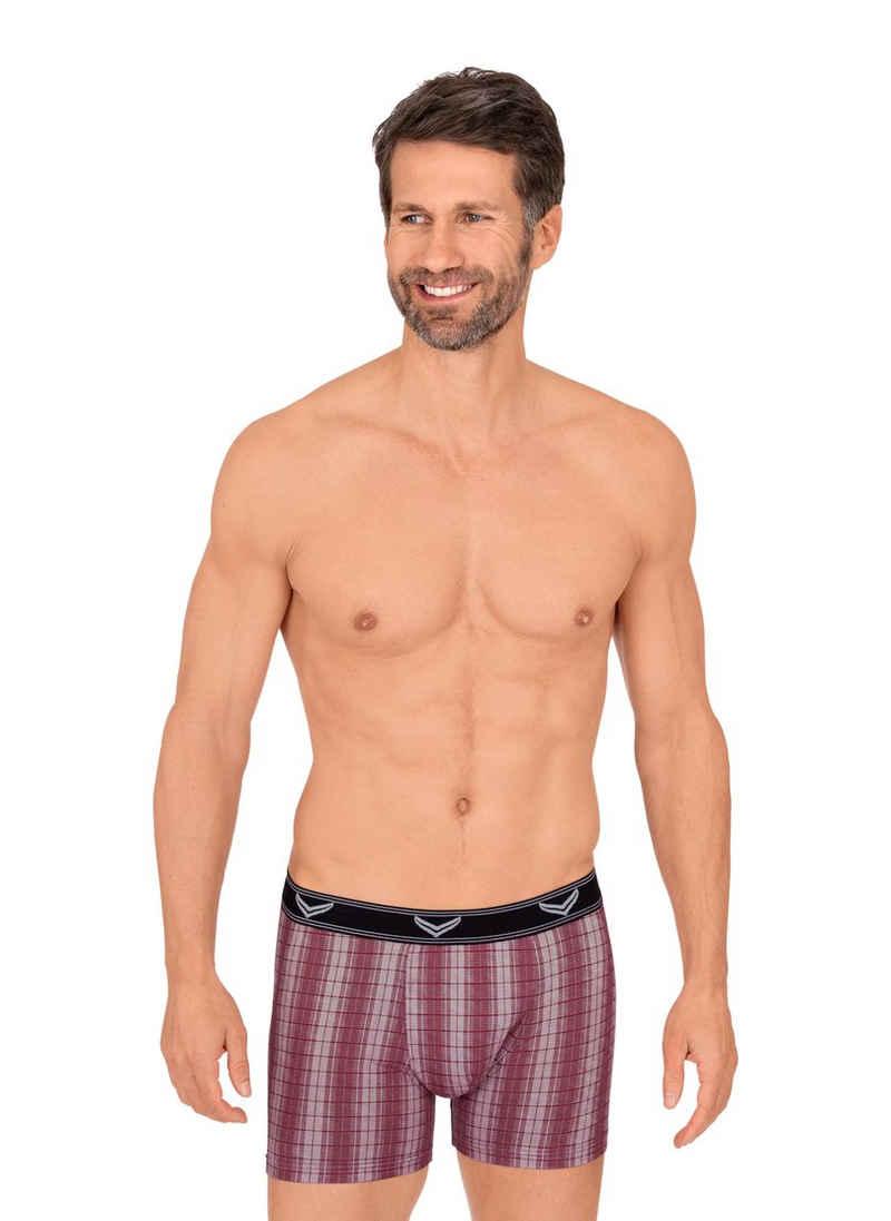 Trigema Boxershorts mit zeitlosem Karo-Muster
