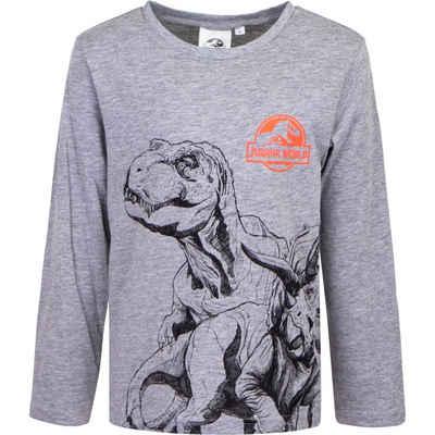 Jurassic World Langarmshirt »Kinder Shirt mit Dinos« Gr. 98 bis 128, in Grün oder Grau