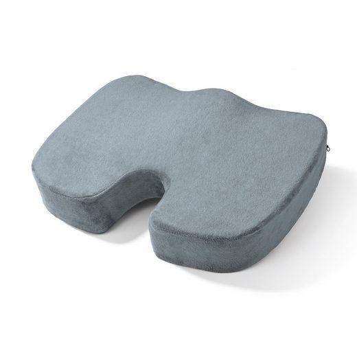 VITALmaxx Sitzkissen, inkl. Fleecebezug grau