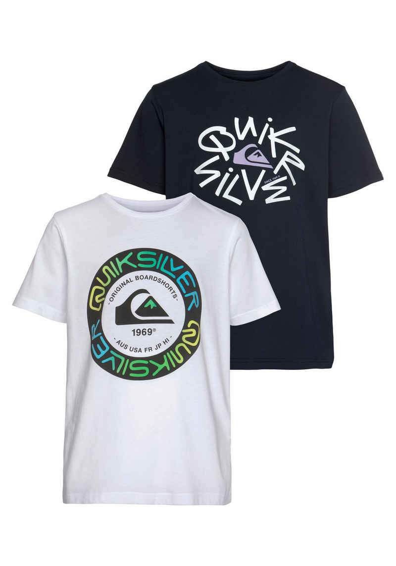 Quiksilver T-Shirt »FUTURE TIME SS TEE PACK YOUTH« (Packung, 2er-Pack)
