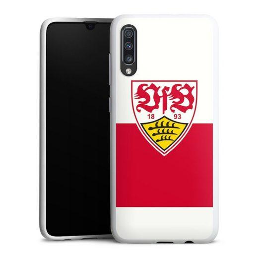 DeinDesign Handyhülle »VfB Stuttgart Brustring« Samsung Galaxy A70, Hülle VfB Stuttgart Offizielles Lizenzprodukt Logo