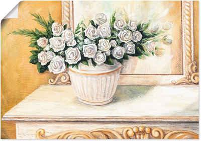 Artland Wandbild »Rosen auf Tisch I«, Blumen (1 Stück), in vielen Größen & Produktarten - Alubild / Outdoorbild für den Außenbereich, Leinwandbild, Poster, Wandaufkleber / Wandtattoo auch für Badezimmer geeignet