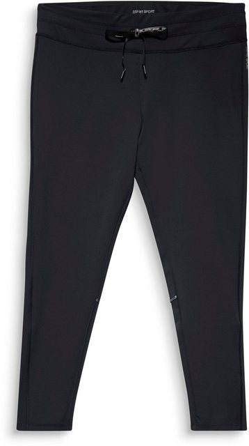 Hosen - esprit sports Funktionshose mit breitem Bund und Bindeband mit Logo Print › schwarz  - Onlineshop OTTO