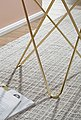 Wohnling Beistelltisch »WL5.996«, Design Marmor Optik Weiß Rund Ø55 cm Gold Metallgestell Kleiner Wohnzimmertisch Couchtisch, Bild 5