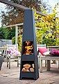 Buschbeck Feuerschale »Malmo«, BxLxH: 36x36x150 cm, Bild 2