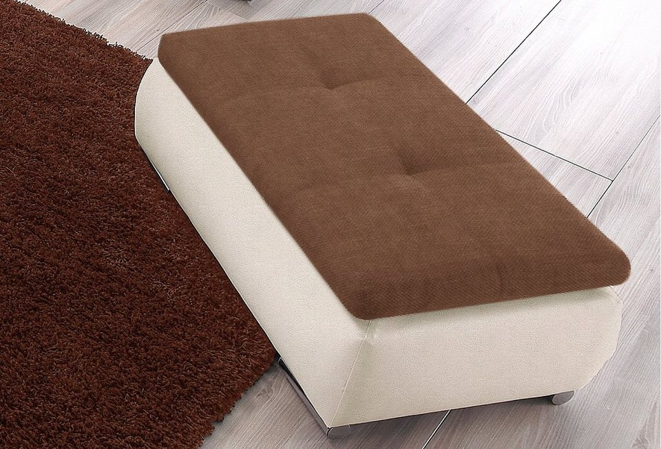 Hocker in beige/braun