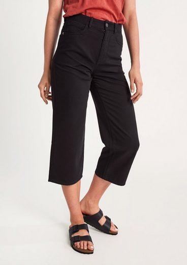 comma casual identity 7/8-Jeans »Regular: 7/8-Jeans aus Light Denim« Leder-Patch