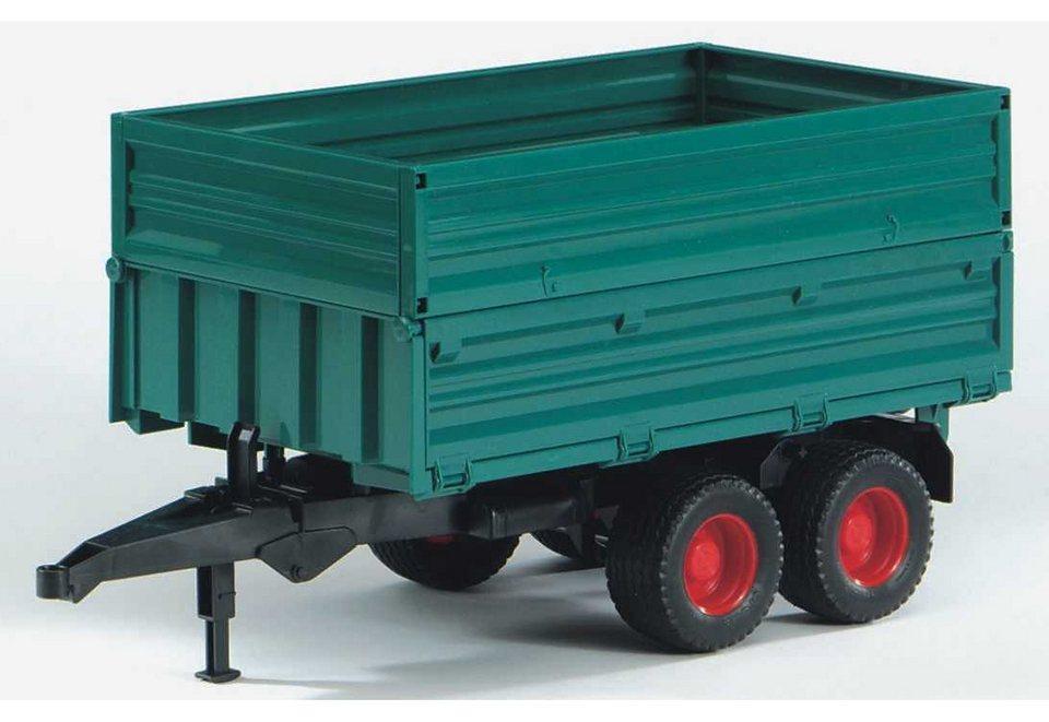 bruder® Anhänger, »Tandemachs-Transportanhänger mit Aufsteckbordwand« in grün