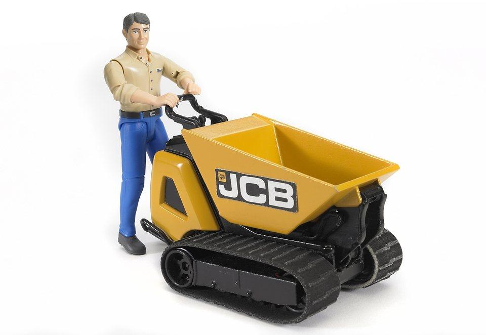 bruder® Dumpster, »JCB HTD-5 mit Bauarbeiter (Kleidungsfarben gemischt sortiert)« in gelb
