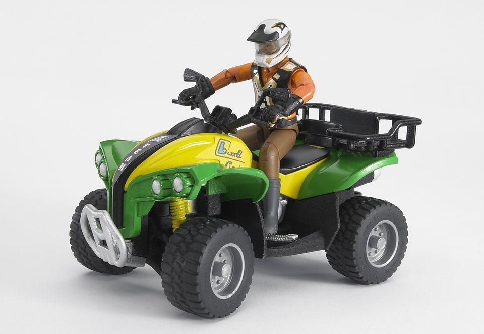 bruder® Fahrzeug, »Quad mit Fahrer (Kleidungsfarben gemischt sortiert)« in grün