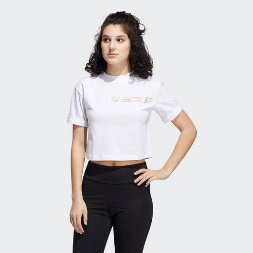 adidas Originals T-Shirt »Pride Linear Cropped T-Shirt«