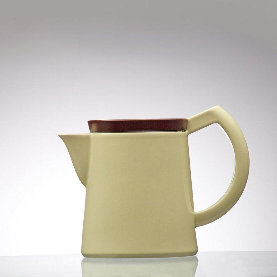Sowden Sowden SoftBrew Kaffeekanne JAKOB 0.8L gelb mit Holzdeckel in gelb, braun