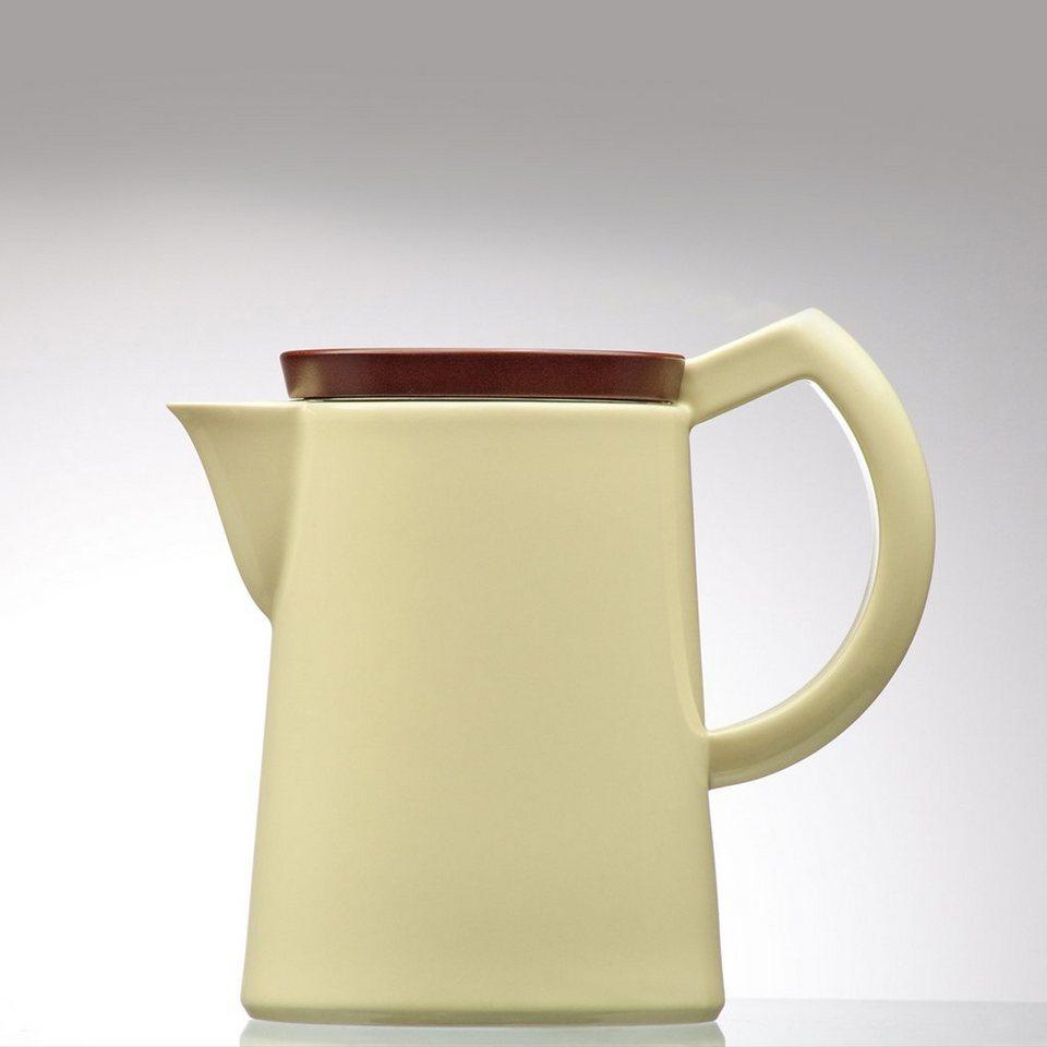Sowden Sowden SoftBrew Kaffeekanne JAKOB 1.2L gelb mit Holzdeckel in gelb, braun