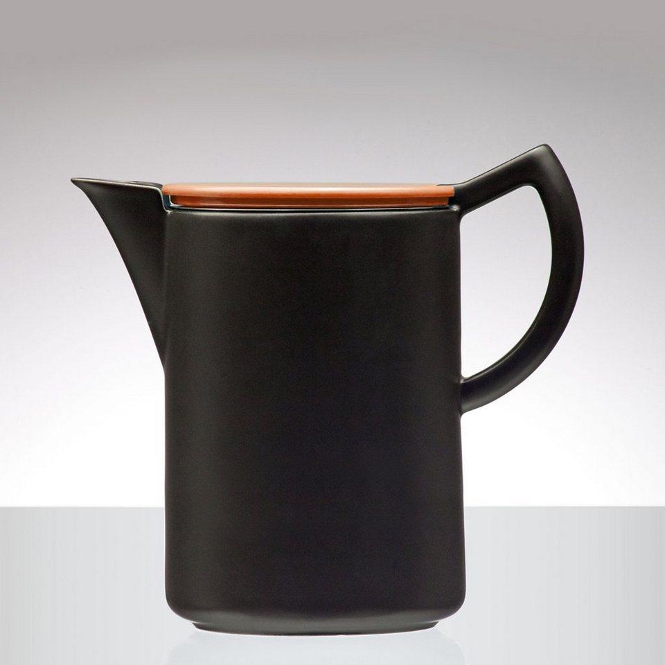 Sowden Sowden SoftBrew Kaffeekanne JAMES 1.2L schwarz-orange in schwarz, orange