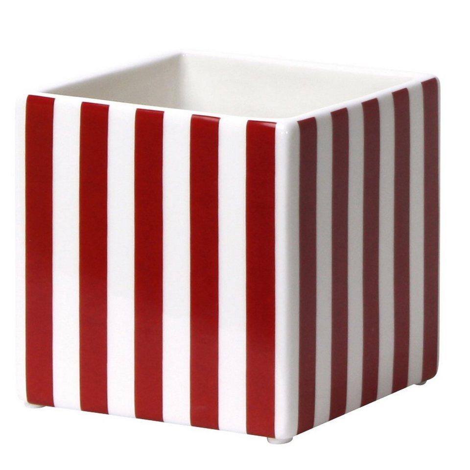 CULTDESIGN Cult Design Box gestreift rot-weiss 10cm in rot, weiß