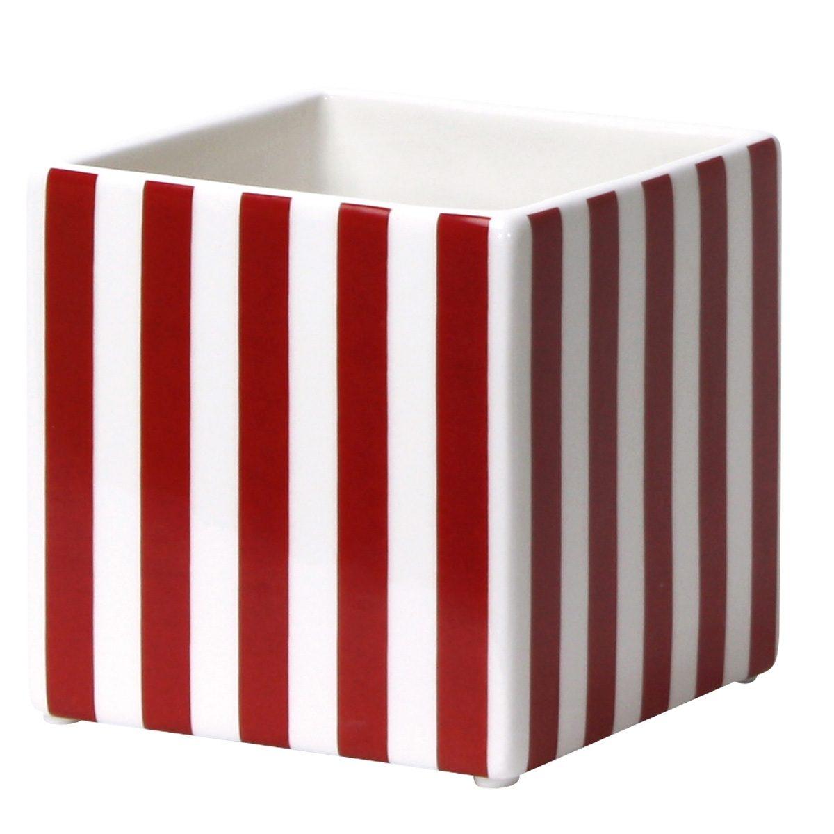 CULTDESIGN Cult Design Box gestreift rot-weiss 10cm