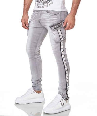 KINGZ Slim-fit-Jeans mit schöner Waschung