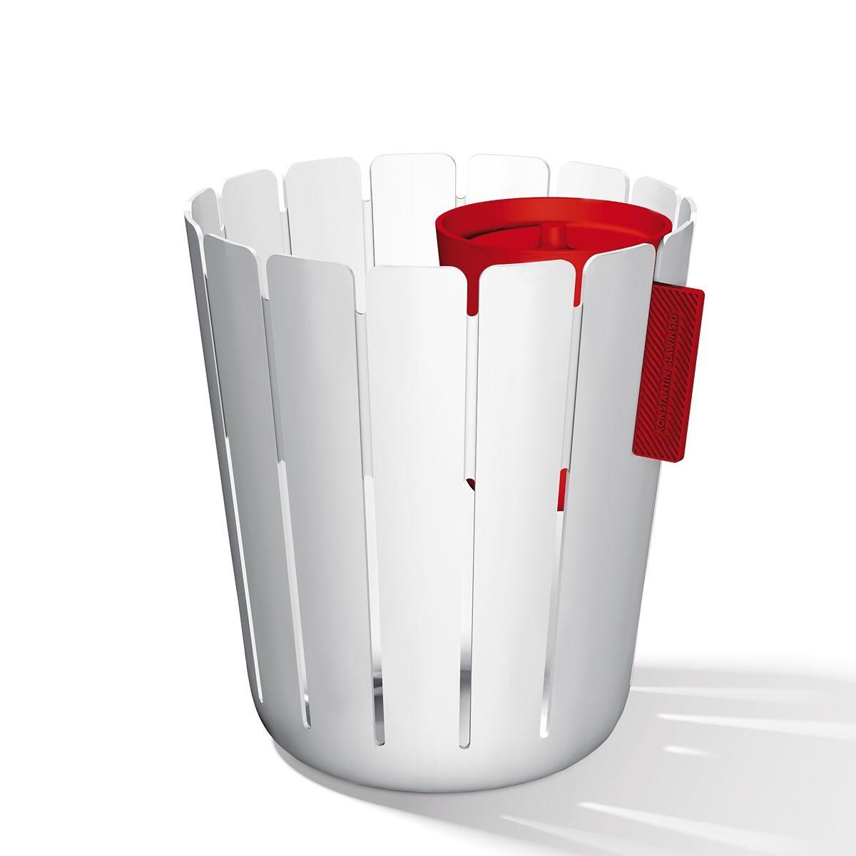 Konstantin Slawinski Konstantin Slawinski Papierkorb BASKETBIN weiß-rot