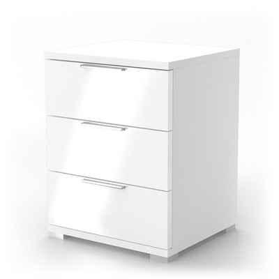 Vicco Nachtschrank »Kommode Nachttisch Schublade Schlafzimmer Weiß Hochglanz«