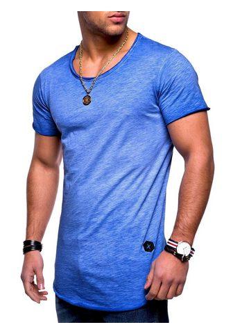 behype Marškinėliai »DUST« su Rundhals-Aussch...