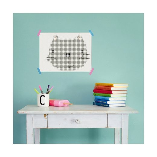 Dot On Malvorlage »dot on art - cute - kitty, 30 x 40 cm«