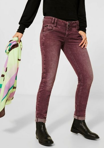 STREET ONE Low-rise-Jeans »Crissi« mit Anhänger